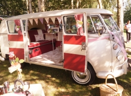 Classic 1960s Campervan for wedding hire in Southsea
